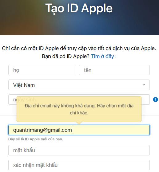 Hướng dẫn tạo tài khoản iCloud trên máy tính