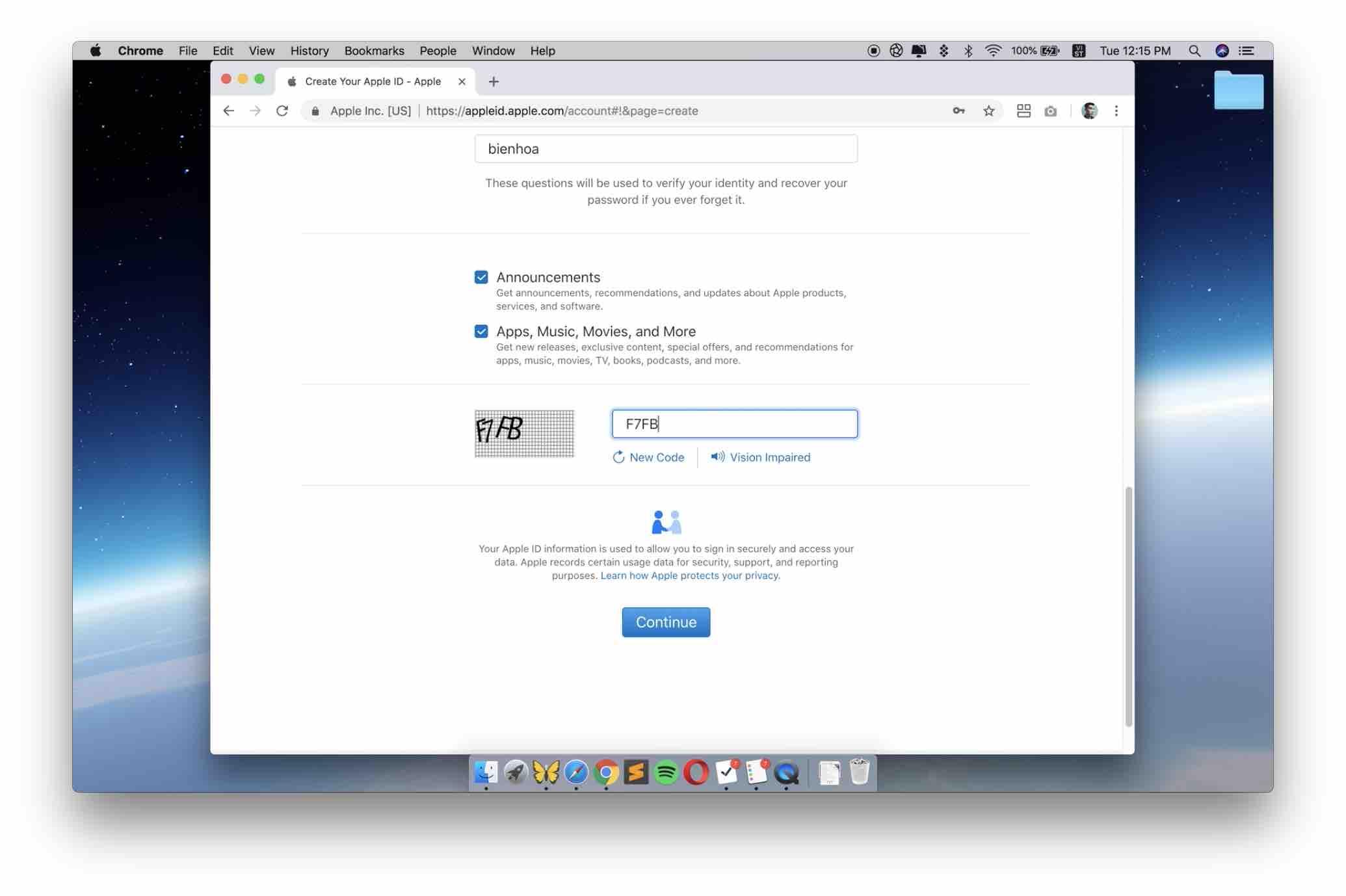 Hướng dẫn tạo tài khoản iCloud từ web trên máy tính