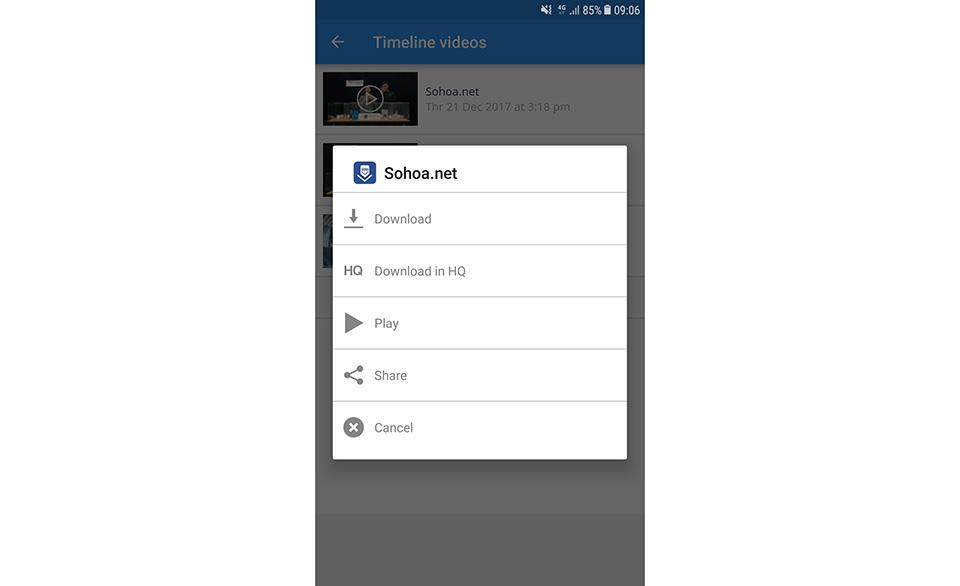 cách tải video từ facebook về điện thoại samsung