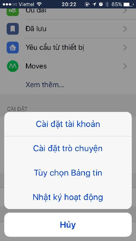 cách đổi tên facebook trên điện thoại iphone